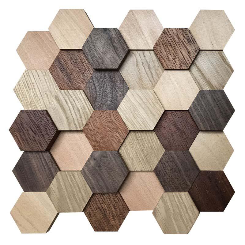 Hexagon Wand Deko Mix